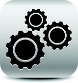 picture of rework  - Various gear wheel rack wheel vector graphics - JPG