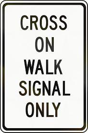 stock photo of traffic signal  - Canadian traffic sign  - JPG