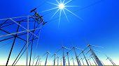 picture of wind-farm  - Wind turbines - JPG