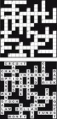 Empty and solved business crossword