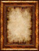 Постер, плакат: Античный жженый стильный пергамент фон в загородном стиле деревянного каркаса