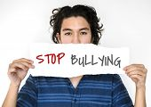 Stop bullying aggressive force behaviour poster