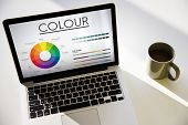 Color Wheel Primary Colors Brilliance Pantone poster