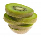 Stack Of Sliced Kiwi Fruit