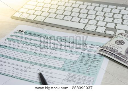 Us Tax Form Next To