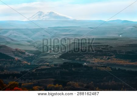 Elbrus Mountain Peak In Caucasus