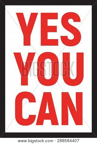 Yes You Can Lettering Motivation