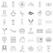 Beauty Salon Icons Set. Outline Style Of 36 Beauty Salon Icons For Web Isolated On White Background poster