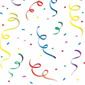 image of reveillon  - colorful falling confetti - JPG