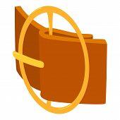 Circular Belt Buckle Icon. Isometric Illustration Of Circular Belt Buckle Icon For Web poster