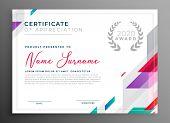 Modern Certificate Award Template Design Vector Illustration poster