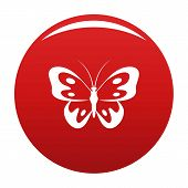 Butterfly In Wildlife Icon. Simple Illustration Of Butterfly In Wildlife Icon For Any Design Red poster