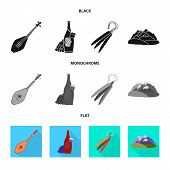 Vector Illustration Of Culture And Sightseeing Icon. Set Of Culture And Originality Stock Vector Ill poster