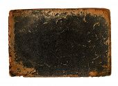 picture of 1700s  - Antique book cover leather with rough worn edges - JPG