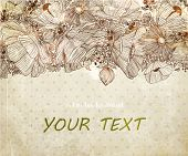 foto of hand drawn  - Stylish floral background - JPG
