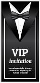 Elegant Vip Invitation Banner. Realistic Illustration Of Elegant Vip Invitation Vector Banner For We poster