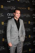 LOS ANGELES - JAN 14:  Jean Dujardin arrives at  the BAFTA Award Season Tea Party 2012 at Four Seaon