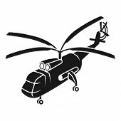 Large Transport Helicopter Icon. Simple Illustration Of Large Transport Helicopter Vector Icon For W poster