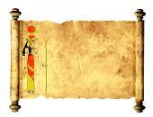 picture of isis  - Scroll with Egyptian goddess Isis image - JPG