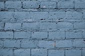 Blue Shabby Brick Wall For Decoration Design. Beautiful Pattern With Blue Shabby Brick Wall For Desi poster