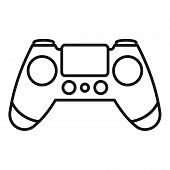 Entertainment Gamepad Icon. Outline Entertainment Gamepad Vector Icon For Web Design Isolated On Whi poster