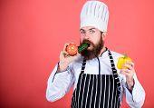 Vegetarian Recipe Concept. Buy Fresh Vegetables Grocery Store. Vegetarian Restaurant. Hipster Chief  poster