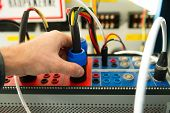 Maintenance Relay Protections By Electric Testing Device. Test Tool For Engineering Protection poster