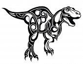 Dinosaur. Decorative Ornamental Dinosaur For Your Design poster