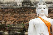 Monuments Of Sleeping Buddah Wat Yai Thailand poster