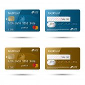 stock photo of plastic money  - Credit cards - JPG
