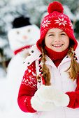 stock photo of snowman  - Winter - JPG