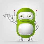 pic of cybernetics  - Cartoon Character Cute Robot Isolated on Grey Gradient Background - JPG