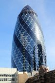 LONDON - APRIL 30: The modern 30 St Mary Axe on April 30, 2012 in London, UK. The building, called S