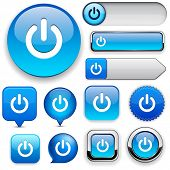 Power blue design elements for website or app. Vector eps10.