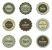 stock photo of high-quality  - Vintage Labels set - JPG