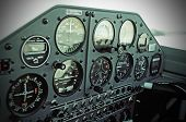 image of aerobatics  - Instrument panel of a light aerobatic aircraft - JPG