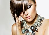 foto of woman glamorous  - Fashion Model Girl Portrait - JPG