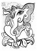 stock photo of hindu-god  - Hindu God Ganesha - JPG