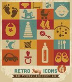 Baby Icons set.Vektor