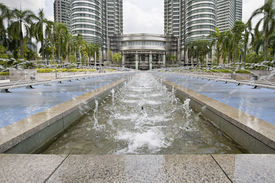picture of klcc  - Water Fountain at KLCC Kuala Lumpur City Center in Malaysia - JPG