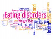 stock photo of anorexia nervosa  - Eating distorder concepts word cloud illustration - JPG