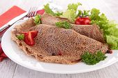 image of crepes  - buckwheat crepe - JPG