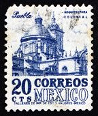 Postage Stamp Mexico 1950 Puebla Cathedral