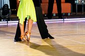 picture of tango  - man and woman are dancing latin dance - JPG