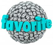 stock photo of hash  - Favorite Hash Tag Popular Trending Topic Sharing - JPG