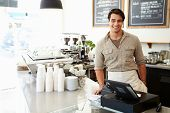 image of takeaway  - Male Owner Of Coffee Shop - JPG