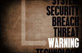 stock photo of virus scan  - Warning Computer Security Threat and Protection - JPG