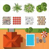 picture of lawn chair  - Detailed landscape design elements - JPG