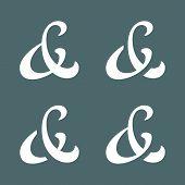 stock photo of ampersand  - Elegant custom ampersands for wedding invitation - JPG