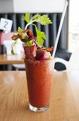 foto of bloody mary  - very large bloody Mary Alcohol drink at a restaurant - JPG